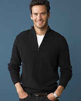New Spencer Cable Half-zip Sweater