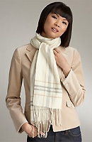 Cashmere Plaid Border Scarf