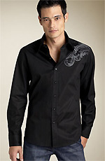 7 Diamonds Patterned Shirt with Embroidery