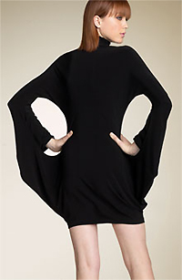 Norma Kamali 'Modern Sculpture' Turtleneck Dress