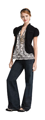 Susan B Wool Sweater & Stam Denim Trouser