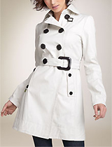 Soia & Kyo Convertible Collar Trench Coat