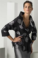 Armani Collezioni 'Sand Dollar Print' Belted Kimono Jacket