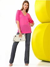 Puff-Sleeve Top & Boot-Cut Jean
