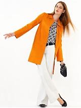 Orange Lady Coat & White Jean