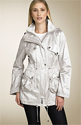 Laundry by Shelli Segal Hooded Metallic City Anorak