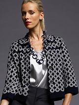 BR Monogram Jacquard Sweater Jacket