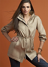 INC International Concepts® Linen Anorak with Cinched Waist