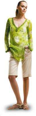 Printed Silk Chiffon Tunic