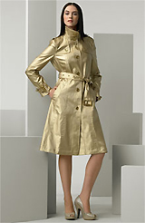 Burberry London Gold Single Breasted Trench Coat