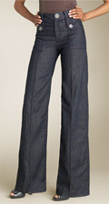 Goldsign 'Luna' Wide Leg Stretch Denim Trousers