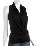 Black Pima Wrap Tank