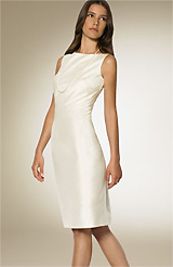 Lauren by Ralph Lauren Pleat Silk Sheath Dress