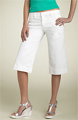 Joe's Jeans 'Welt Kicker' White Crop Stretch Jeans