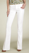 7 For All Mankind White Stretch Bootcut Jeans (Clean White)