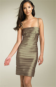 BCBGMAXAZRIA Laser Cut Sheath Dress