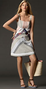 Tommy Hilfiger Mixed-Pattern Dress