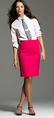 Refined Serge Pencil Skirt