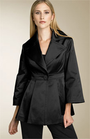 Jessica Simpson Fit & Flare Satin Jacket - Black
