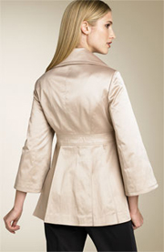 Jessica Simpson Fit & Flare Satin Jacket - Khaki
