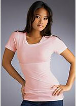 Yummie Tummie: Basic T Scoop Neck Shapewear T-Shirt