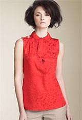 MARC BY MARC JACOBS 'Wild Cherry' Silk Jacquard Shirt
