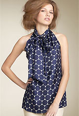 MARC BY MARC JACOBS 'Penelope' Tie Neck Dot Top