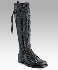Ann Demeulemeester Triple Lace-Up Flat Tall Boots