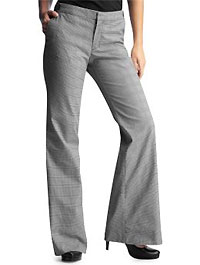 Plaid Low Rise Flare Pants