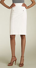 Diane von Furstenberg 'Cougarette' Stretch Cotton Skirt