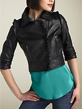 Madison Marcus 'Universe' Ruffle Leather Jacket