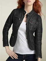 Organic John Patrick Shrunken Leather Jacket