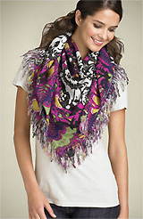 TARNISH Square Ikat Print Scarf