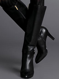 'Channing' High-heel Buckle Boot