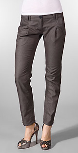 Grey Ant Pleat Front Pant in Dark Grey