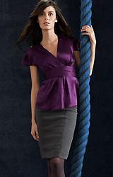 Satin Top & Pencil Skirt