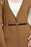 Via Spiga Metal Harness Croc Embossed Leather Belt