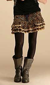 Printed Silk Georgette Skirt