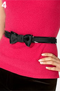 Contrast Trim Bow Belt