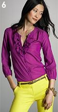 Solid Cotton-Silk Gianna Blouse
