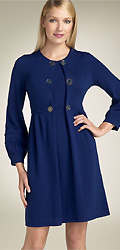 Design History Button Front Sweater Dress