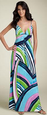 Julie Brown Jersey Knit Maxi Dress