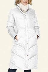 Women's Regular Chevron Long Down Coat