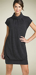 Maggy London Cowl Neck Ribbed Sweater Dress