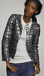 Metallic Houndstooth Phoebe Jacket