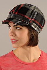 Plaid Cab Cap