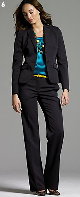 Wool Gabardine Two-Button Jacket