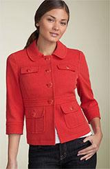 Halogen® Basketweave Jacket