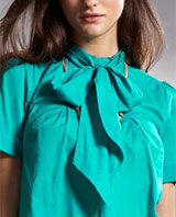 Cotton Tie-Neck Blouse