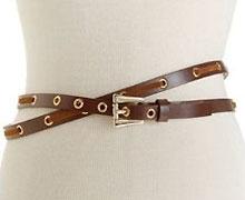 Jessica Simpson Double-Wrap Leather Belt